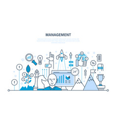 management organization of working process time vector image vector image