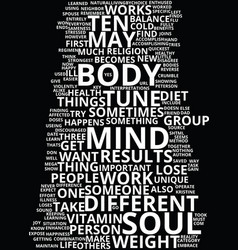 Mind body and soul text background word cloud vector
