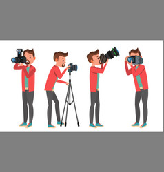 professional photographer male in vector image vector image