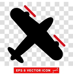 Propeller aircraft eps icon vector