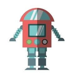 Robot cyborg machine futuristic shadow vector