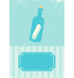 Sea bottle vector