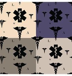 Seamless caduceus pattern vector