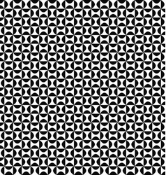 Seamless geometric monochrome curved shape pattern vector