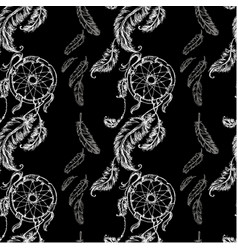 seamless pattern dreamcatcher vector image