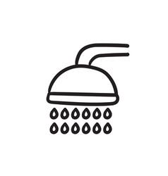 Shower sketch icon vector