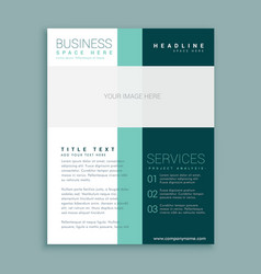 Simple brochure design for your business vector