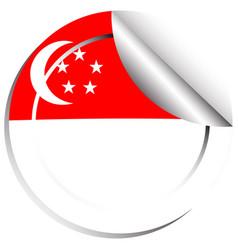 Sticker design for singapore vector