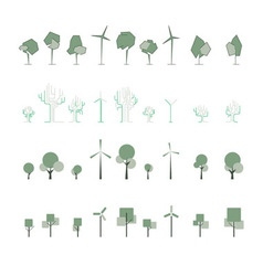 Stylised tree vector