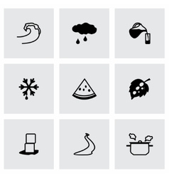 Water icon set vector image vector image