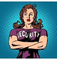Woman security guard vector