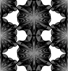 Ornate monochrome abstract background with vector image