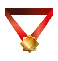 Winner gold medal vector