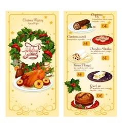 Christmas restaurant menu template design vector