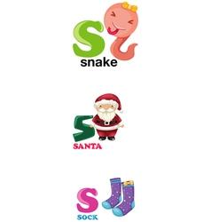 alphabet letter - S vector image