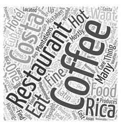 Costa rica lets eat word cloud concept vector
