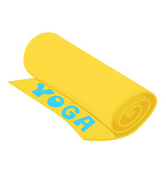 Yoga mat icon cartoon style vector
