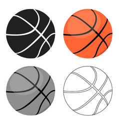 Basketball icon cartoon single sport icon from vector