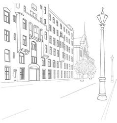 european street vector image