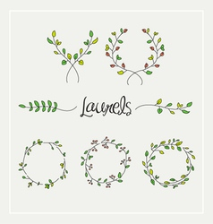 Laurels graphic set vector