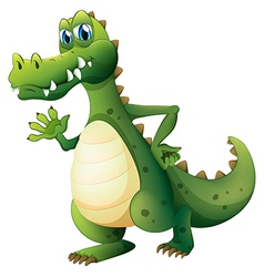 A dangerous crocodile vector image