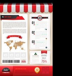 Brochure template design shop style vector