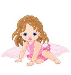 baby fairy vector image