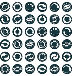 Reload icons isolated on white background set loop vector