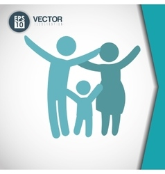 Family icon design vector