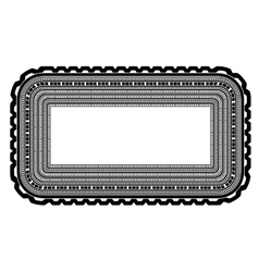 Square decorative frame isolated vector