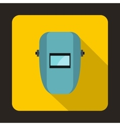 Welding mask icon in flat style vector