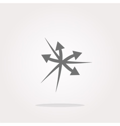 Arrow set web icon button isolated on vector