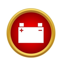 Machine battery icon simple style vector