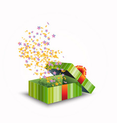 a gift box isolated on white vector image