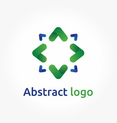 abstract arrows logo template direction icon vector image vector image