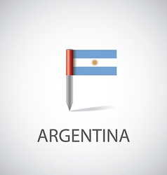 Argentina flag pin vector