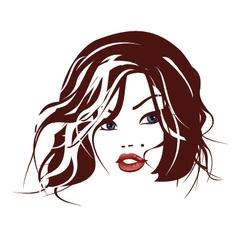 Beautiful face 5 vector