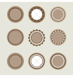 Beige and brown vintage badges templates vector