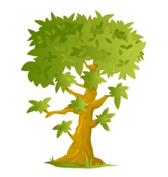 Big cartoon tree vector