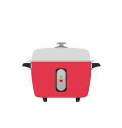 cooker rice electric icon kitchen vector image vector image