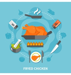 Cooking flat template vector