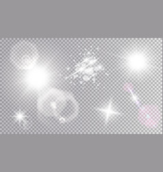 Cosmic light effects set vector