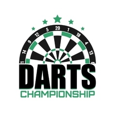 Darts label badge logo darts sporting symbols vector