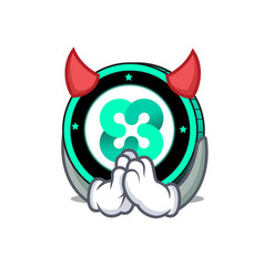 Devil ethos coin mascot cartoon vector