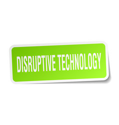 Disruptive technology square sticker on white vector