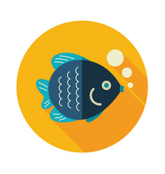 Fish icon summer vacation vector