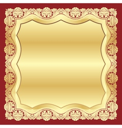 golden floral vector image vector image