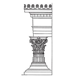 Greek corinthian order organizational system vector