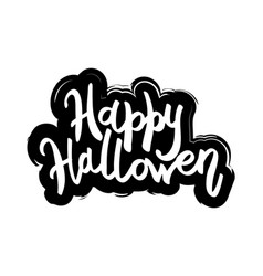 happy halloween message design background vector image
