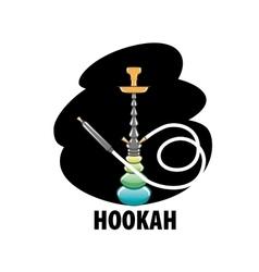 logo hookah vector image